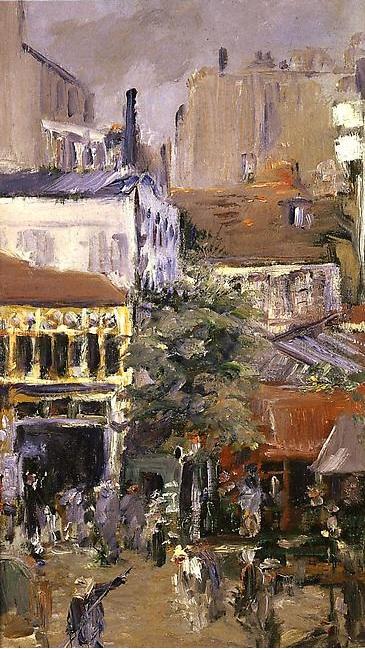 Vue prise de la Place Clichy (1878). Oli sobre llenç, 40.5 x 24.2 cm. Édouard Manet (1832-1883).